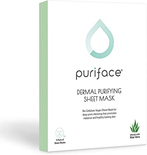 Puriface Dermal Purifying - K Beauty Skin Care Algae Facial Sheet Mask for Deep Pore Cleansing, Anti-Aging and Antioxidant...