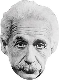 Celebrity Cutouts Albert Einstein (B&W) Big Head. Larger Than Life mask.