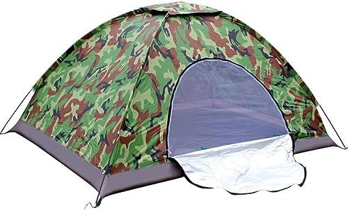 Fulitanghuang Camouflage Dome Tent Camping de plein air Couple résistant à l'eau ventilé léger 1-2 Hommes