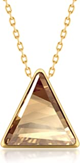 Ed Heart Women's Pendant Necklace with Triangle Crystals from Swarovski