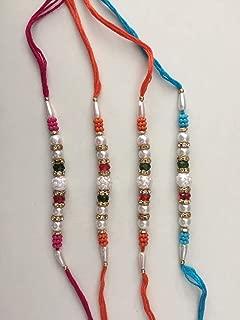 Set of Four Rakhi Rakhi for Brother, Rakhi for Brother,Raksha Bandha Gift for your brother Color Vary and Multi Design