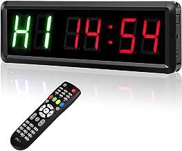Elikliv Gym Timer, LED Programmeerbare Interval Timers met afstandsbediening, 1,5 High Character Gym Timer, Tabata, Stopwa...