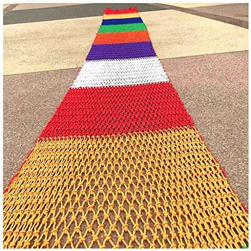 STTHOME Child Safety Net Protection Climbing Frames Colorful nylon rope woven net, Child safety net Stair safety net Cat net Cargo Network Bed protection net, Garden decoration net, 3 * 4m