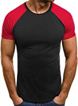 Camiseta para Hombre, ??Xinan Camisas de Moda de Verano para Hombres Camiseta de Manga Corta Deportivas Casual Tops Blusa Pollover Tops tee Color Gris/Rojo, Talla S-XL