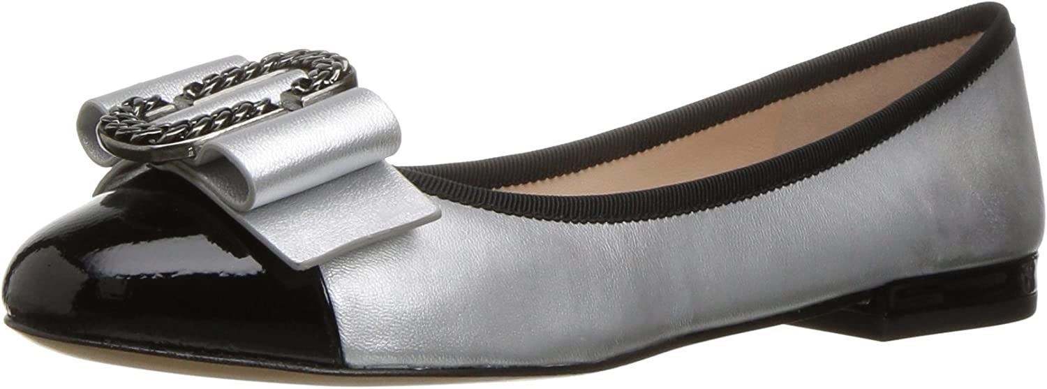 Marc Jacobs Womens Interlock Round Toe Ballerina Ballet Flat