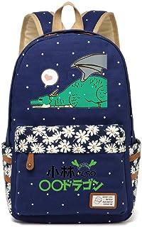 YOYOSHome Anime Miss Kobayashi's Dragón Maid Mochila Cosplay Tohru Laptop Bag Daypack School Bag, 21 (Azul) - yyyo1