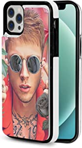 Machi-Ne Gun Kel-Ly Compatible with iPhone 12 Compatible with iPhone 12 Pro Wallet Case (with Card Holder), Pu Leather Card Slot Case, Dual Magnetic Buckle Durable Shockproof Case 6.1 Inches