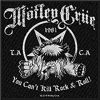 MOTLEY CRUE モトリークルー (結成40周年) - You Can't Kill Rock N Roll/ワッペン 【公式/オフィシャル】