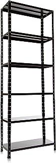 Estante com 6 Prateleiras Multiuso de Aço para Sala Quarto Escritório