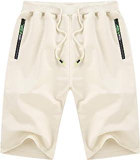 Men's Shorts Casual Classic Fit Drawstring Summer Beach...