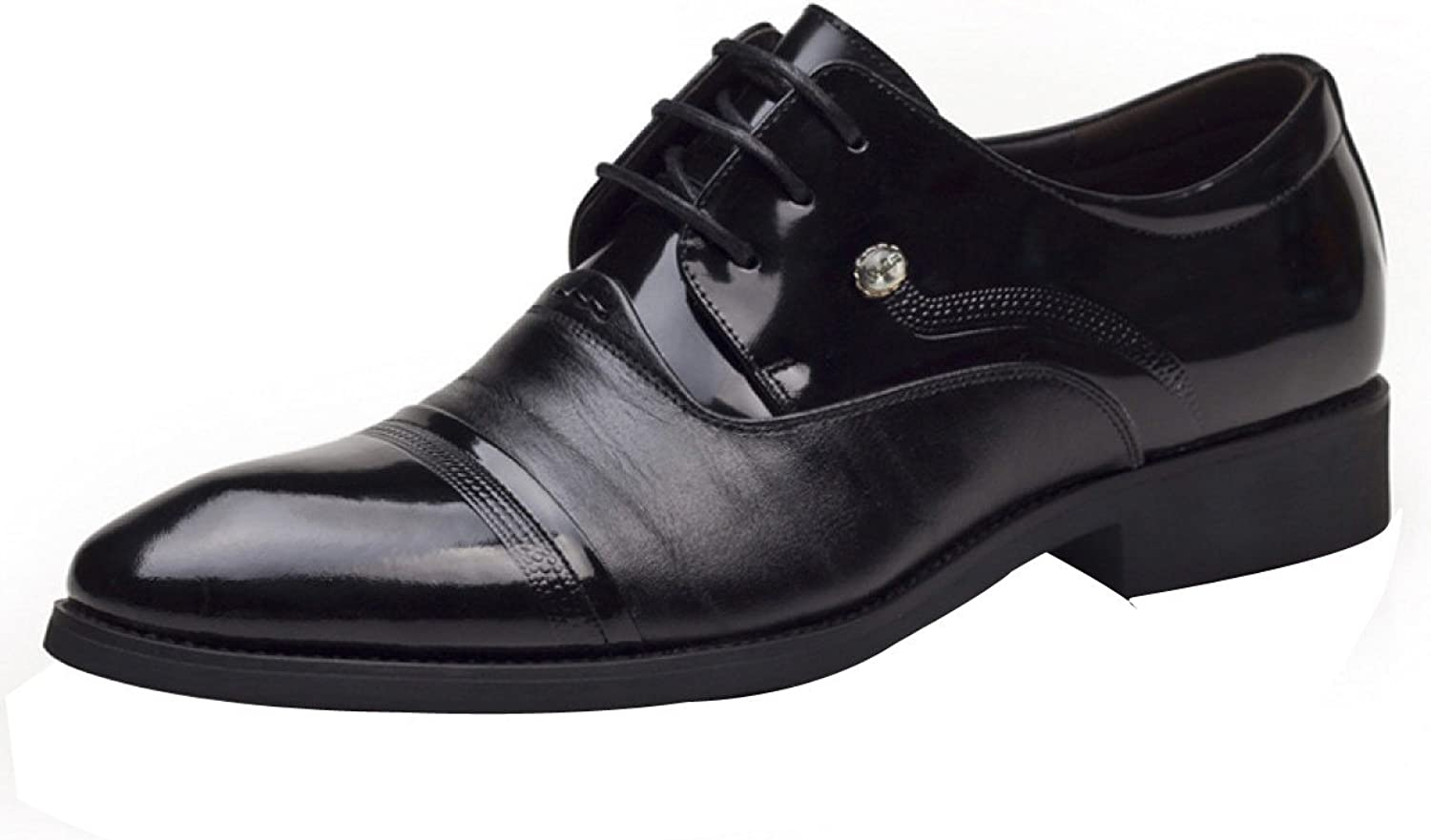 Men Business Suits Lace Pointed Leather shoes