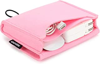 NIDOO Portable Felt Storage Bag, Electronics Accessories Protective Case Pouch for MacBook Power Adapter, Mouse, Cellphone...