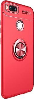 Funda Xiaomi Mi A1/Mi 5X Teléfono Móvil Silicona Bumper Case Funda con Anillo Giratorio de 360 Grados Rotaria Ring Holder Protectora Caso