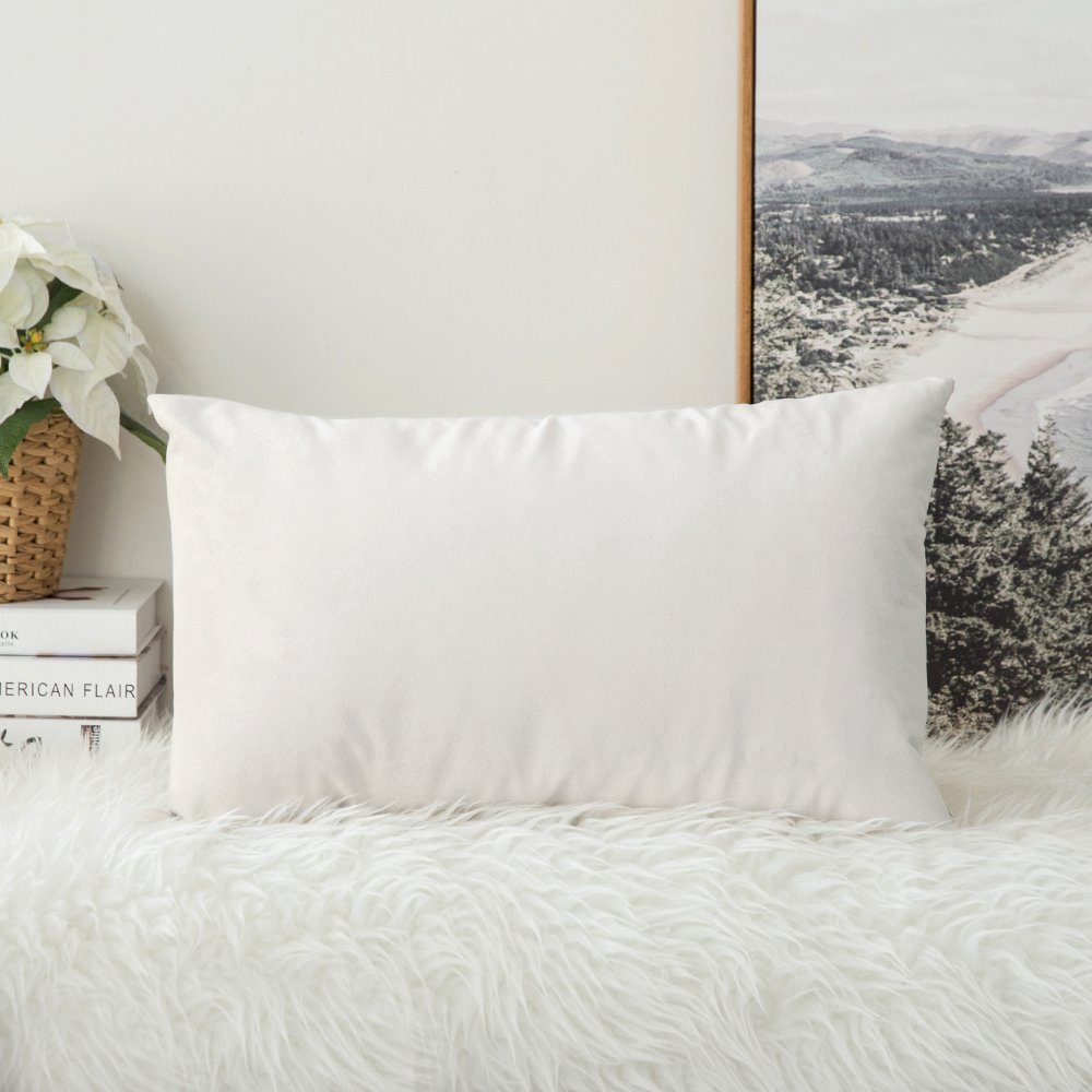 MIULEE Velvet Decorative Cushion Bedroom