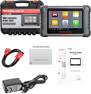 Autel Maxicheck MX-808 + Free Screen Protector Automotive OBD2 Scanner (Combination of MaxiCheck Pro & MD808 All Systems, Cable Version of MK808BT) with Oil Reset/EPB/BMS/SAS/DPF/TPMS and Immobilizer