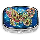 Caja de la píldora de la caja de la píldora de la mariposa de la moda del arte de la mariposa de los EEUU