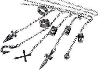 GK-O Anime Hunter x Hunter Kurapika 5 Rings Chain Charms Alloy Bracelet Cosplay Costume