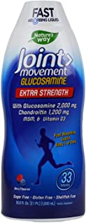 Nature's Way Extra Strength Joint Movement Glucosamine Natural Berry Flavor 33.8 fl oz ea (2-Pack)