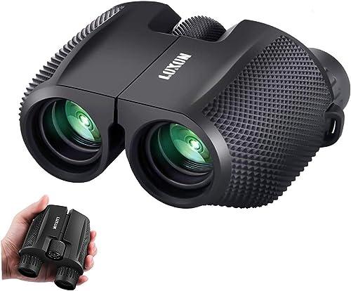 Compact Binoculars, SGODDE 10x25 Waterproof Binocular - Large Eyepiece,Super High Powered Field, Weak Light Night Vis...