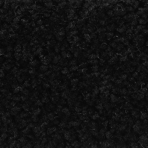 BODENMEISTER BM72182 Teppichboden Auslegware Meterware Hochflor Shaggy Langflor Velour schwarz 400 cm und 500 cm breit, verschiedene Längen, Variante: 6,5 x 4 m