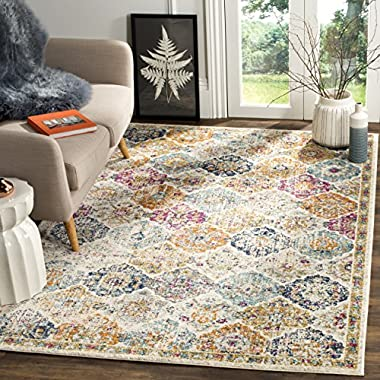Safavieh Madison Collection MAD611B Cream and Multicolored Bohemian Chic Distressed Area Rug (5'1 x 7'6)