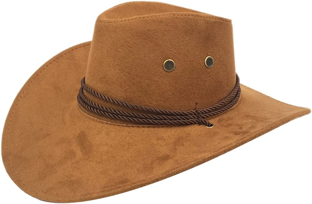 Sandy Ting Men's Outback Quality inspection Faux Felt Western Selling and selling Hat Wide Brim Cowboy