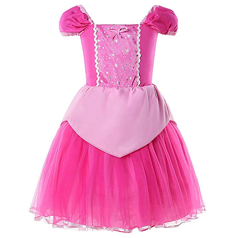 Baby.Yep Princess Snow White Cinderella Rapunzel Aurora Little Mermaid Dress Costume for Baby Toddler Girls