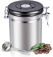 Sotya Stainless Steel Coffee Canister with CO2 Valve and Scoop - Airtight Container Travel Jar, 16oz/467g/1lb