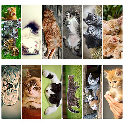 Livin Harmony || Cute Cat Bookmarks (12 - Set) || Purrfect Gift for Kids, Women, and Everyone! || Top Quality Made in USA