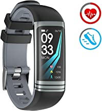 Pulsera de Actividad Inteligente con Pulsómetro Podómetro Calorie Monitoreo del sueño IP67 Impermeable Reloj Deportivo Compatible con Android y iOS