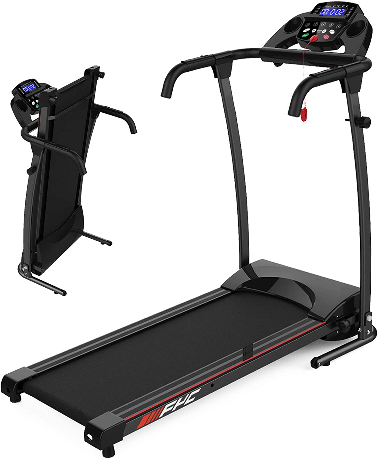 FYC Folding Treadmill for Home Portable Electric Treadmill Running Exercise Machine Compact Treadmill Foldable for Home Gym Fitness Workout Jogging Walking (JK107)