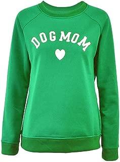 ERLOU T-Shirts Women's Casual O-Neck Long Sleeve Loose Printing Pullover Tunic Tank Tops Sweatshirt Blouse