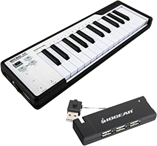 Arturia MicroLab Compact USB-MIDI Controller with IOGEAR 4-Port USB 2.0 Hub Bundle (Black)