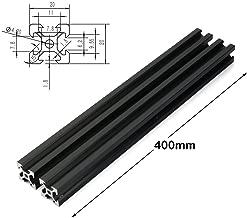 PZRT 2PCS Black 2020 V-Slot Aluminum Profile Extrusion Frame for CNC Laser Engraving Machine Woodworking DIY (400mm)