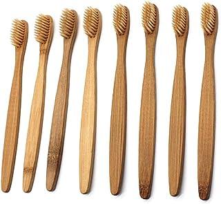 Healifty 柔らかい剛毛が付いている8pcs自然なタケ歯ブラシの木のECOの友好的な歯ブラシ