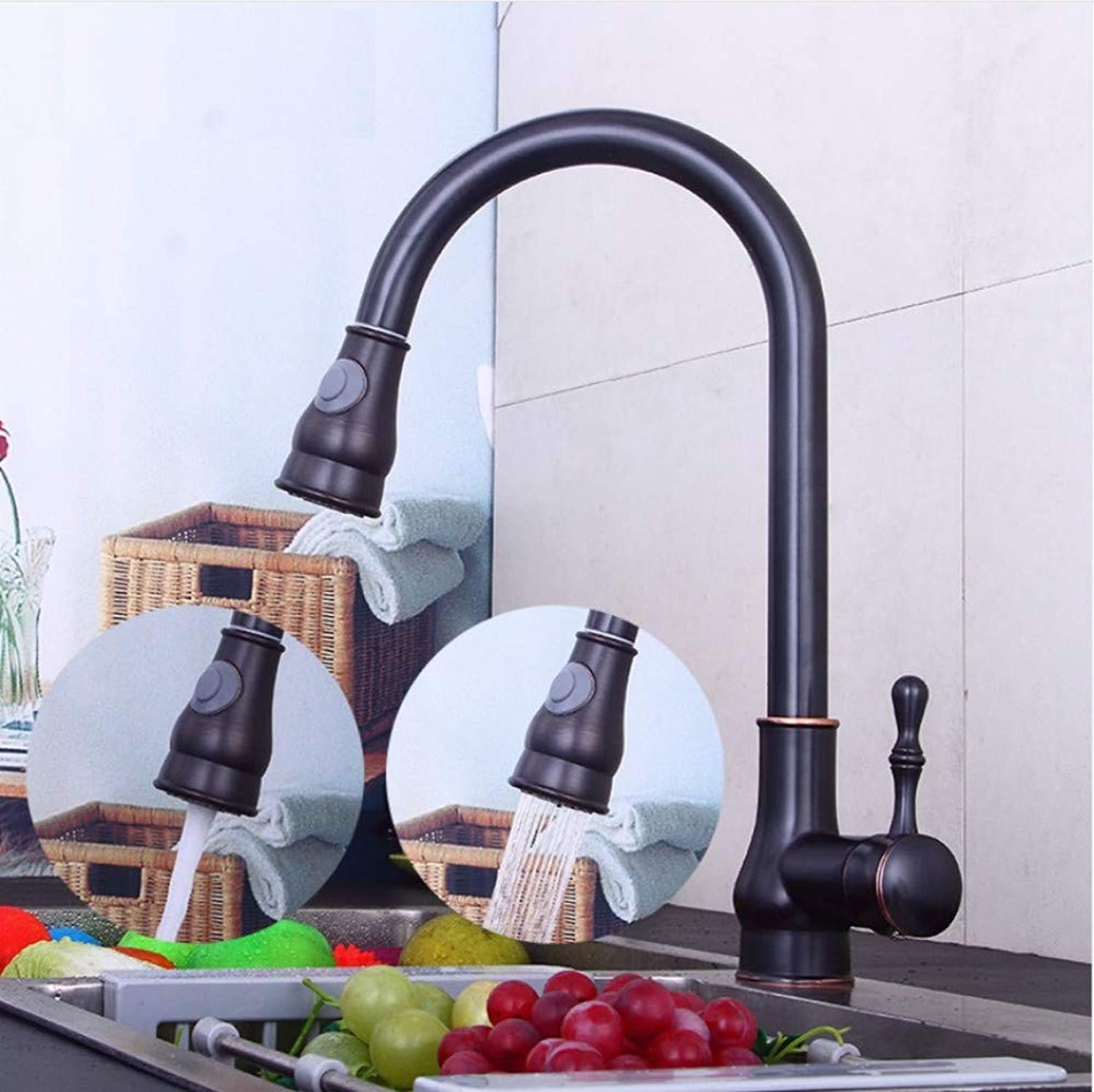 Dwthh Kitchen Faucet Sink Waterfall Faucet Deck Mounted Sink Kitchen Water Tap Mixer Kitchen Drinking Water Faucets