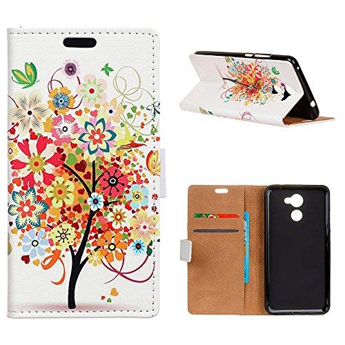 MOONCASE Vodafone Smart N8 Hülle, Mode Gemaltes Muster PU Leder Flip Handyhülle mit [Ständer Funktion] Kartenfächern Cover für Vodafone Smart N8 5.0