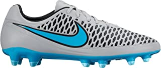 Mens Magista Orden FG Firm Ground Soccer Cleats 8 US, Wolf Grey/Black/Turquoise Blue