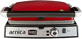 Arnica GH26243 Tostit Maxi Granit Izgaralı Tost Makinesi, Kırmızı