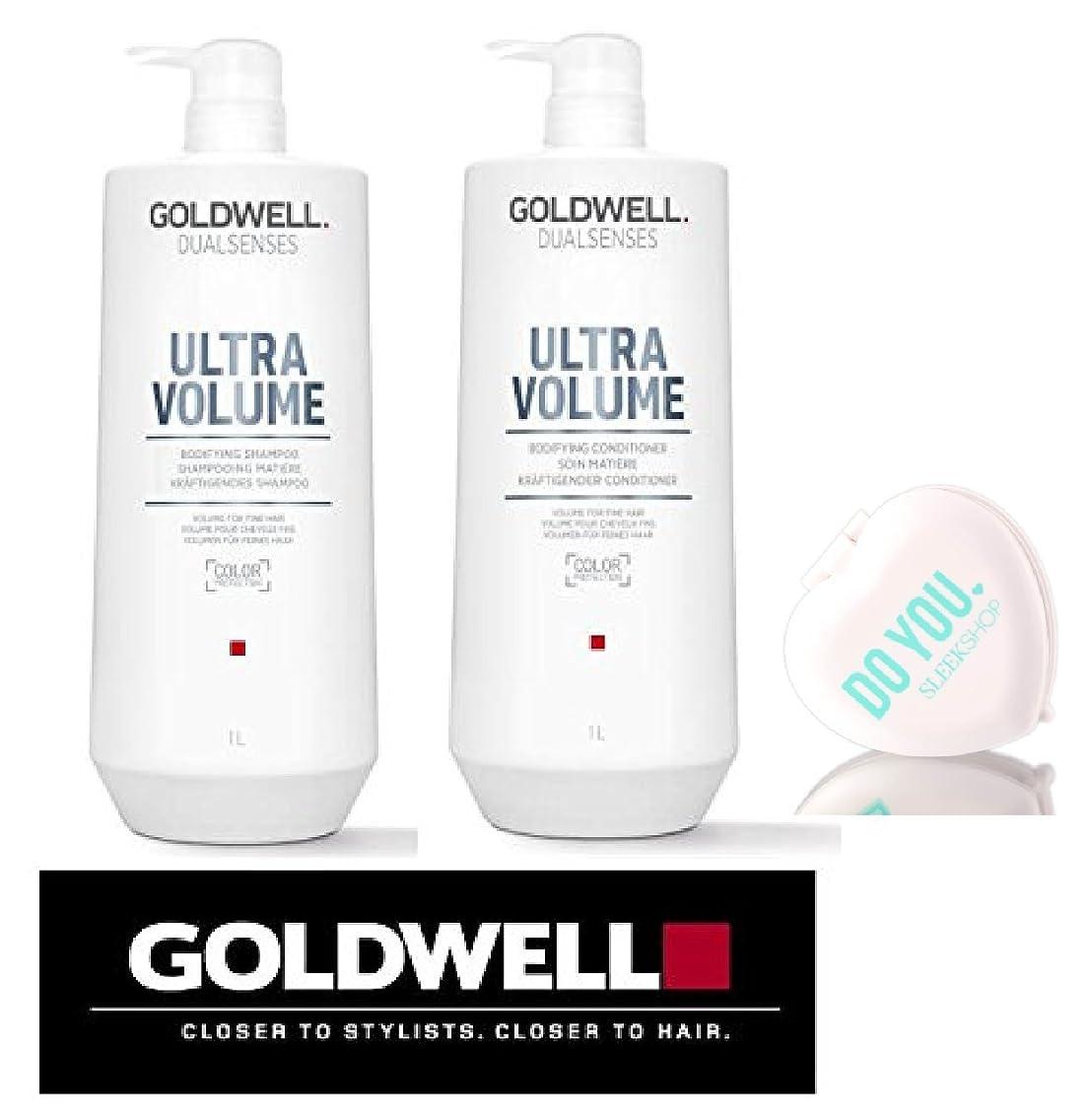 掘る比較的気分が良いUltra Volume by Goldwell (なめらかなコンパクトミラー付き)Goldwell DualsensesウルトラボリュームBodifyingシャンプー&コンディショナーDUOセット 33オンス/千ミリリットル大型キット