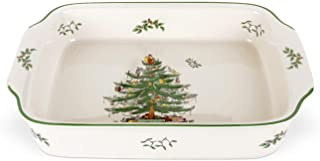 Spode Christmas Tree Rectangular Handled Dish