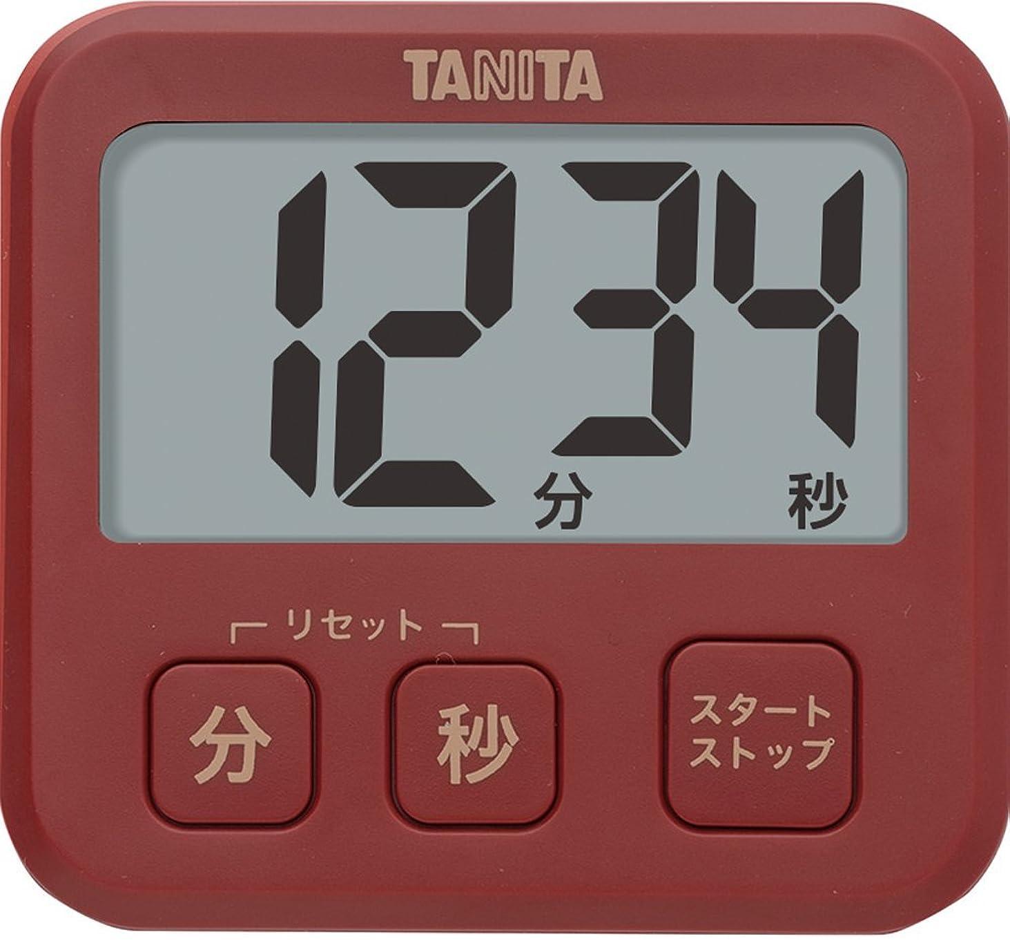 乳剤相談カートタニタ タイマー 薄型 レッド TD-408 RD 厚さ9.5mm