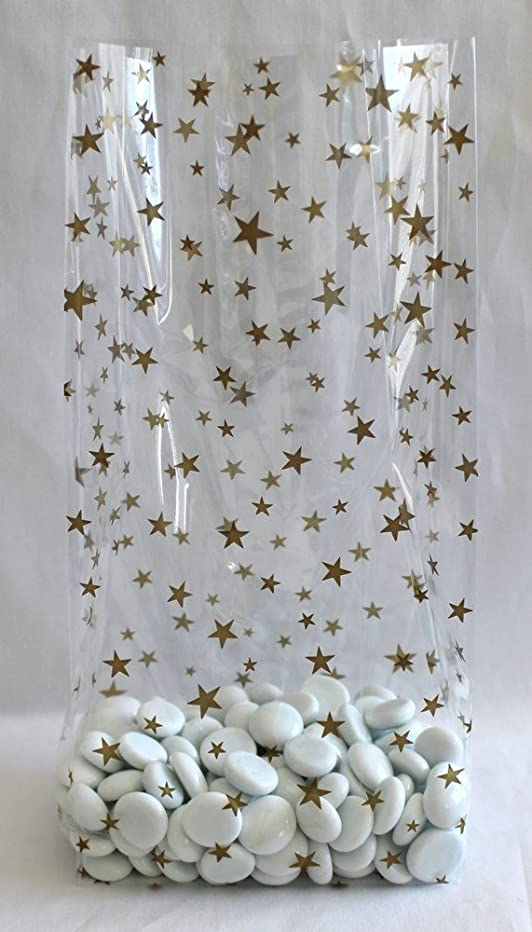 Gold Stars Cello Party Favor Treat Bags 5
