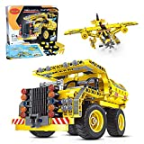 STEM Toys Building Set for Boys 8-12 Years, 2in1 Dump Truck or Airplane Build Construction Engineering Model kit, Best Gift Ideas for kids age 7-14 yrs, Enhance IQ Creativity Thinking & Learning skill