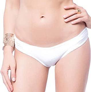 FITTOO Braguitas Tangas Parte Inferior Traje de baño Mujer Alta Elasticidad Color Sólido Talla Grande Colores Varias Bikini 850