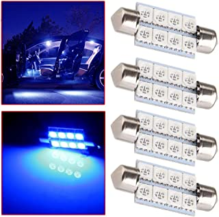 OCPTY Extremely Bright 39mm Festoon Blue Light for 6411 6418 C5W DE3423 6413 DE3425 Car Interior Dome License Plate Door Lights Pack of 4