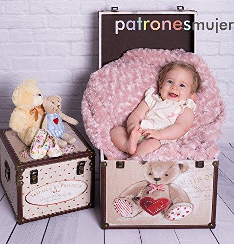 Revista patrones de costura infantil, nº 7. Especial bebé, 28 modelos de patrones, Tallas de 1 mes a 36 meses. Tutoriales en vídeo(Youtube). Cutting instructions.
