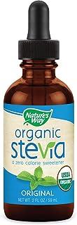 Nature's Way Organic Stevia Zero Calorie Sweetener no Bitterness, Vegetarian Non-GMO Original, 2 Oz