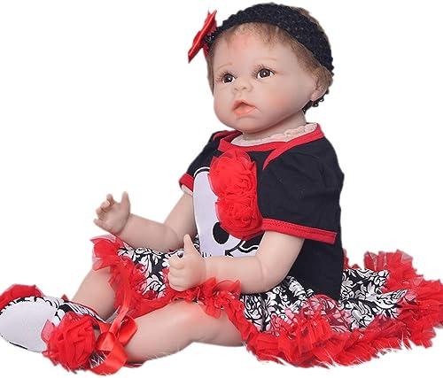 DMZH 5cm Stoff Karosserie Warme Familie Reborn Babypuppen Simulation Neugeborenes mädchen Realistische Lebensechte Weiß puppe Kinder Spielzeug Geburtstag Weißachten Geschenke