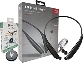 LG Tone Ultra HBS-830 Bluetooth Wireless Stereo Headset with Bluetooth Tracking Device - for Item Tracker (Renewed)